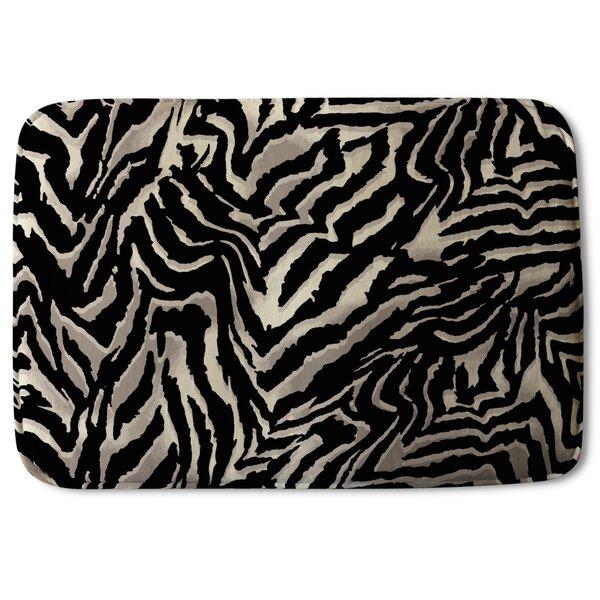 Bloomdale Zebra Print Designer Rectangle Non-Slip Animal Print Bath Rug