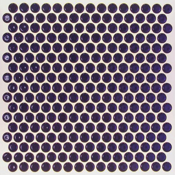 Bliss 0.75 x 0.75 Ceramic Mosaic Tile in Midnight Blue by Splashback Tile