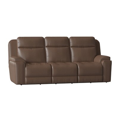 """Showstopper 94"""""""" Pillow Top Arm Reclining Sofa Southern Motion Body Fabric: Pasadena Elk, Reclining Type: Power Headrest with SoCozi -  736-61-95P -24221"""