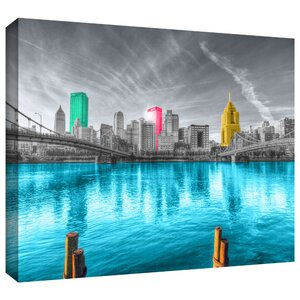 'Pittsburgh' by Revolver Ocelot Photographic Print on Wrapped Canvas by ArtWall