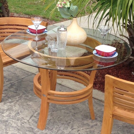 Half Moon Dining Table By Chic Teak Great price