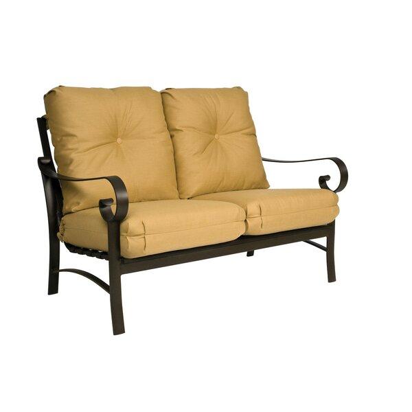 Belden Loveseat with Cushions by Woodard