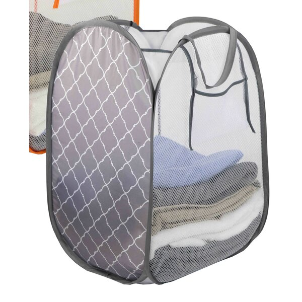 Pop Up Printed Laundry Hamper (Set of 3) by Home Basics