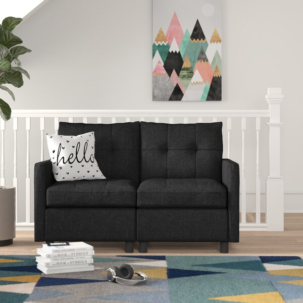 Brewer Modular Loveseat by Trule Teen