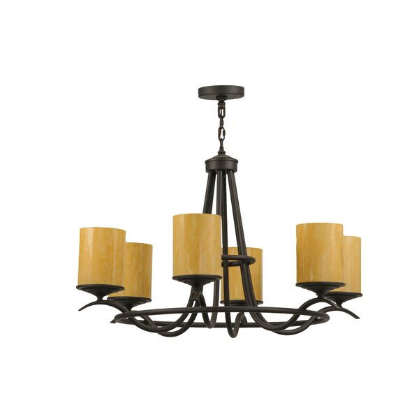 Conleth 6 - Light Candle Style Wagon Wheel Chandelier By Canora Grey