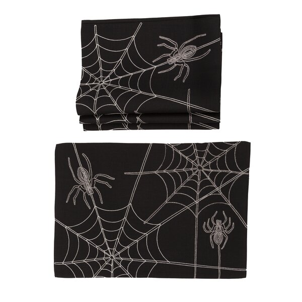 Drubin Halloween Spider Web 20 Placemat (Set of 4) by The Holiday Aisle