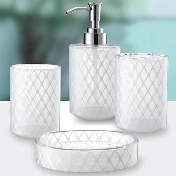 3D Net Work 4-Piece Bathroom Accessory Set by Immanuel