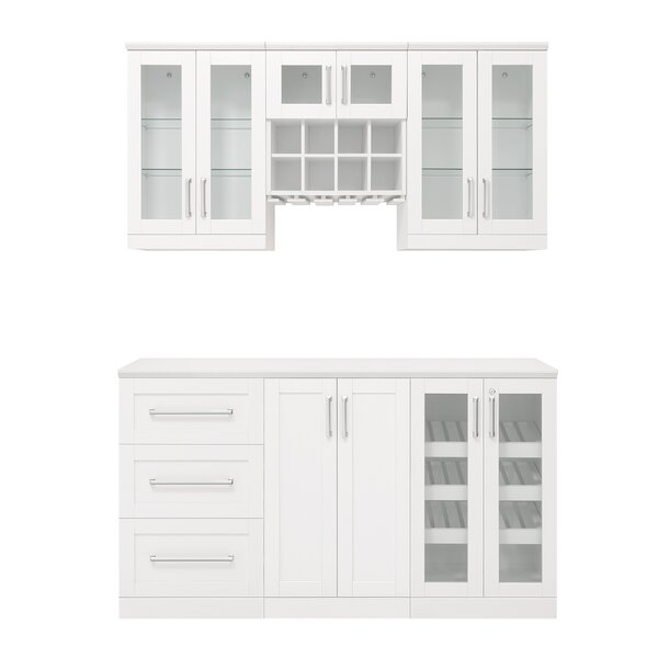 Home Bar 7 Piece Cabinet Set Shaker Style - 21-inch by NewAge Products NewAge Products