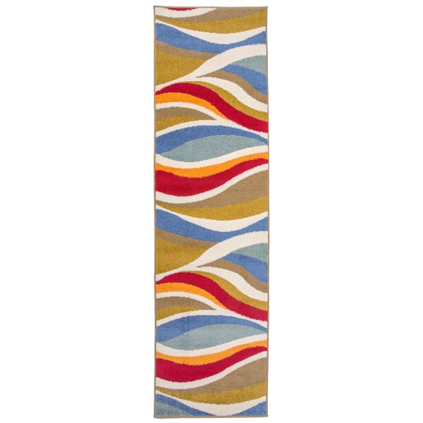 Ruger Contemporary Wavy Blue Area Rug by Orren Ellis