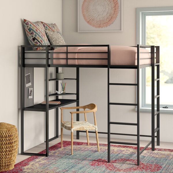 Aime Full Loft Bed with Bookcase by Mack & Milo