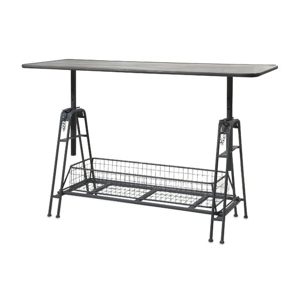Meisner Adjustable Metal Work Console Table by Williston Forge