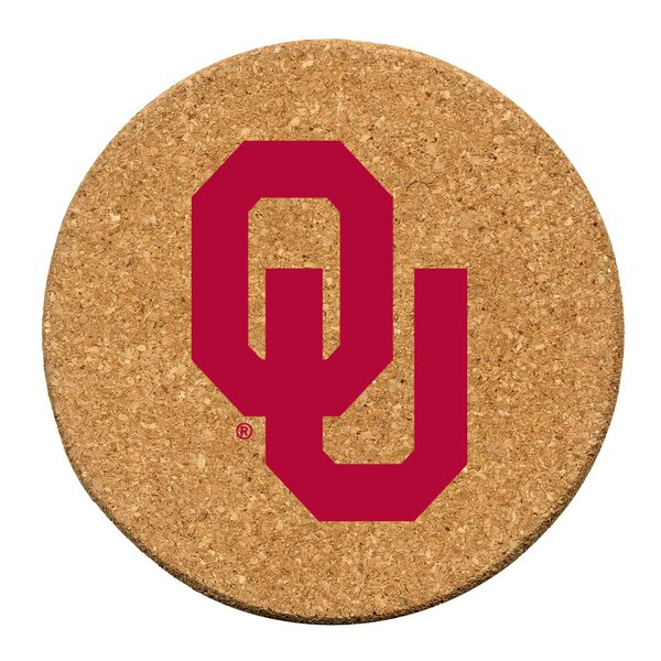 University of Oklahoma Cork Collegiate Coaster Set (Set of 6) by Thirstystone