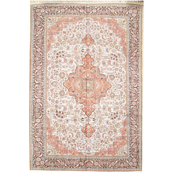 Kashmir Hand Knotted Wool Ivory Area Rug by Pasargad NY