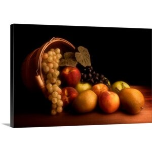 Basket of Fruit by Tom Mc Nemar Wall Art on Canvas by Canvas On Demand