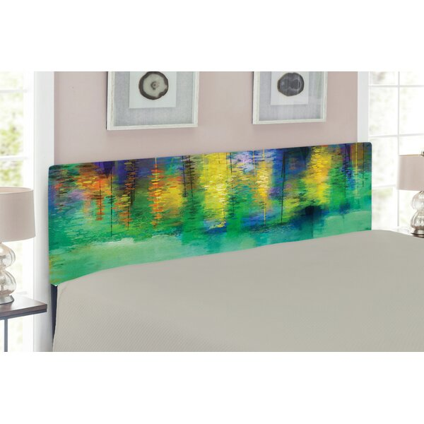 Watercolor Flower Upholstered Panel Headboard by East Urban Home
