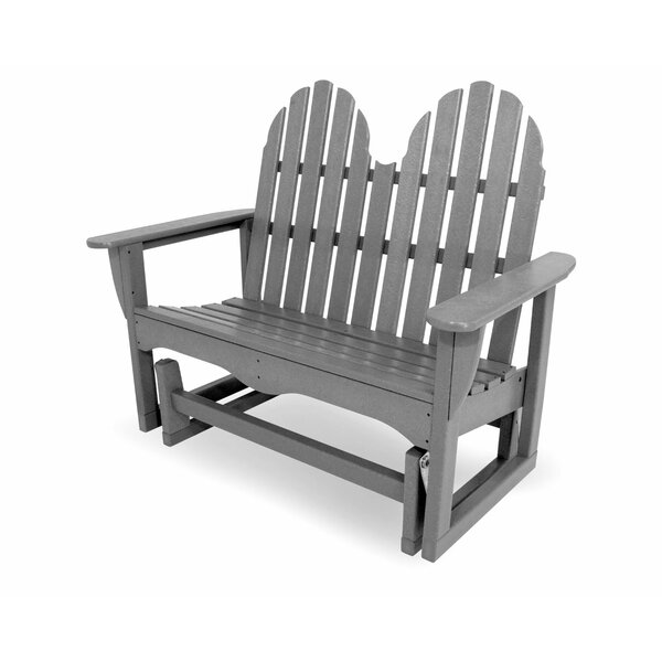 Classic Adirondack Glider Bench By POLYWOOD® by POLYWOOD® New Design