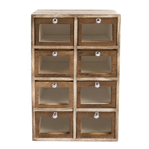 Chehalis Wooden Storage Case 8 Drawer Accent Chest by Williston Forge