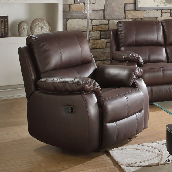 Malave Leather Manual Recliner by Red Barrel Studio