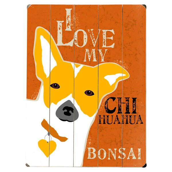 Personalized Chihuahua Graphic Art Print Multi-Piece Image on Wood by Artehouse LLC