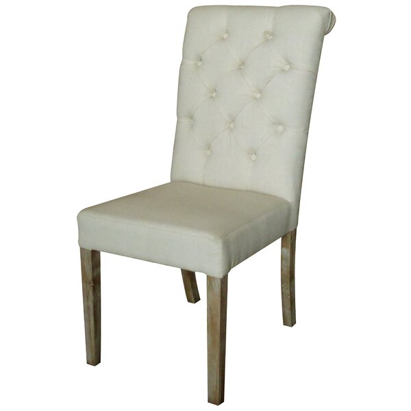 Stanly Rolled Upholstered Dining Chair (Set of 2) by Highland Dunes