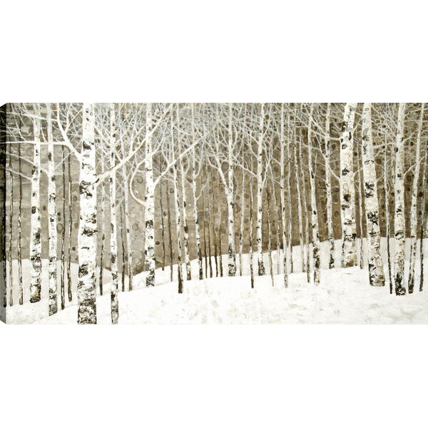 Birch Trees Oil  by Tina O Painting Print on Canvas by Hobbitholeco.