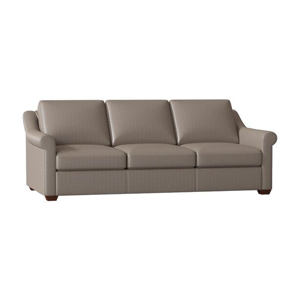 Potrero Leather Sofa by Charlton Home Charlton Home