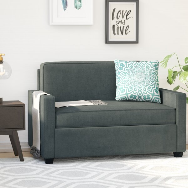 Cabell Twin Sleeper Loveseat by Mercury Row