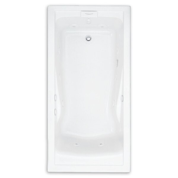 Evolution 74.75 x 38.5 Everclean Air Bathtub by American Standard