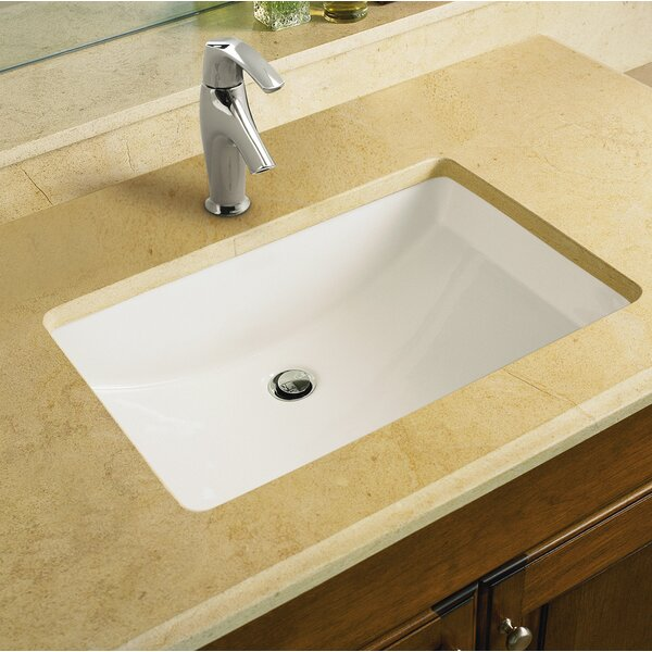 Ladena Ceramic Rectangular Undermount Bathroom Sin