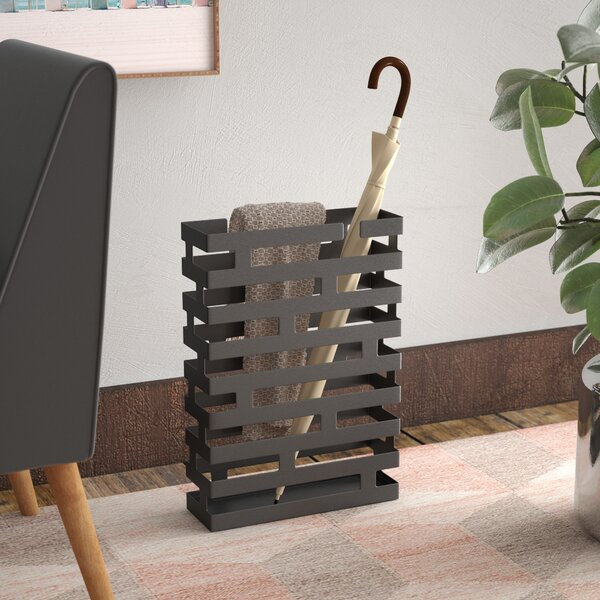 Rectangular Steel Umbrella Stand by Zipcode Design
