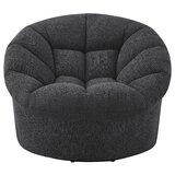 Veroniza Upholstered Swivel Barrel Chair byRed Barrel Studio