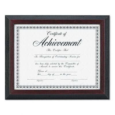 DAX MANUFACTURING INC. Solid Wood Award/Certificate Frame, 8.5\
