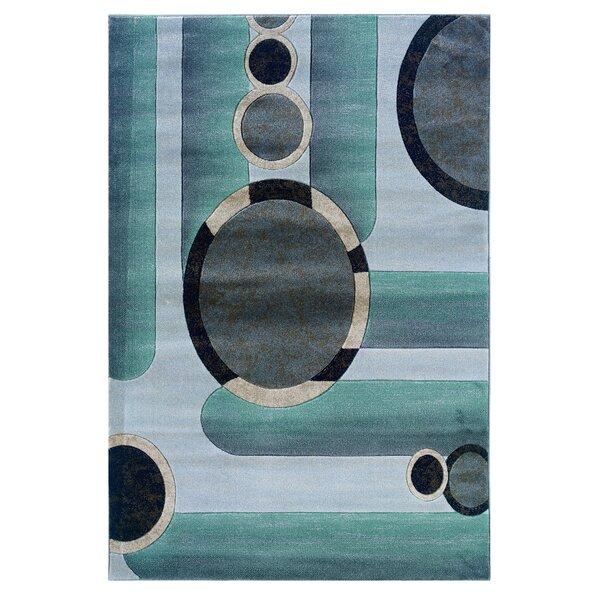 Carina Grey/Seaglass Area Rug by Ebern Designs