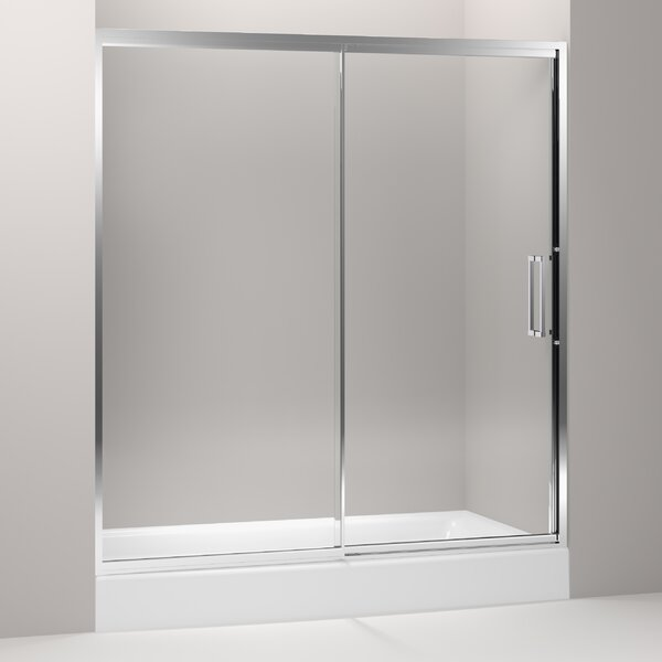 Lattis 72 x 76 Pivot Shower Door with CleanCoat® Technology by Kohler