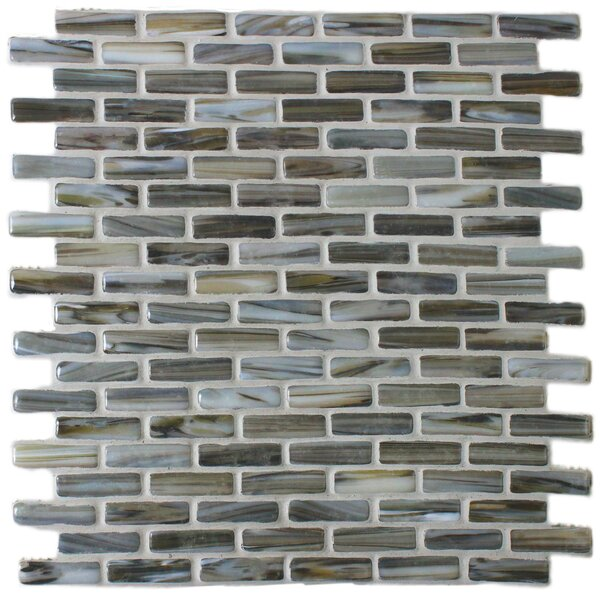 Kiln Umber 1 x 2 Glass Mosaic Tile in Brown by Tile Focus