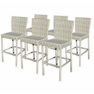 Ansonia 30 Patio Bar Stool with Square Seat (Set of 6) byRosecliff Heights