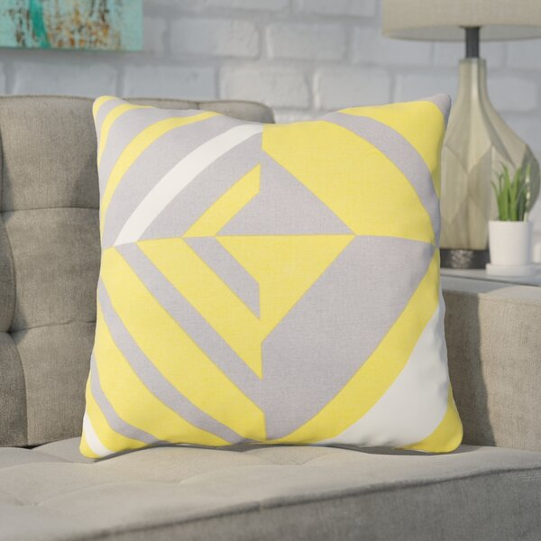 Clio Square Cotton Indoor Throw Pillow by Ivy Bronx
