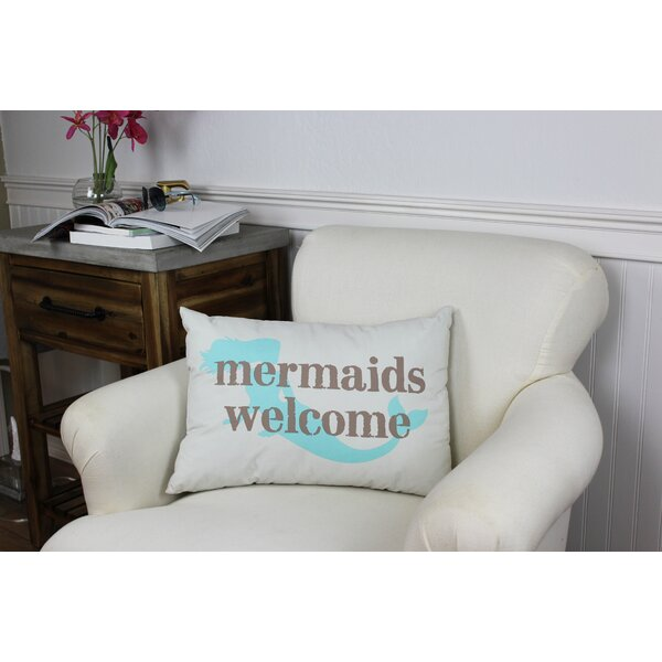 Gwendolyn Mermaids Welcome Lumbar Pillow by Highland Dunes