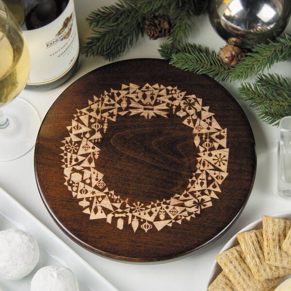 Modern Christmas Wreath Trivet by Martins Homewares