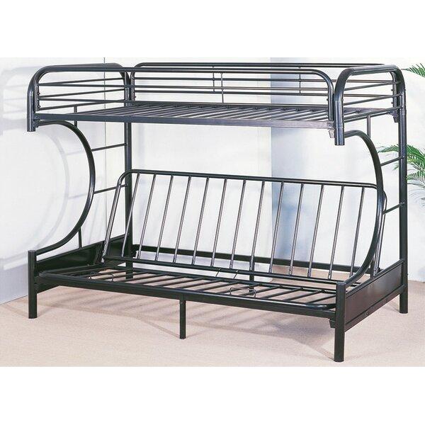 Swan Metal Twin over Full Futon Bunk Bed by Harriet Bee