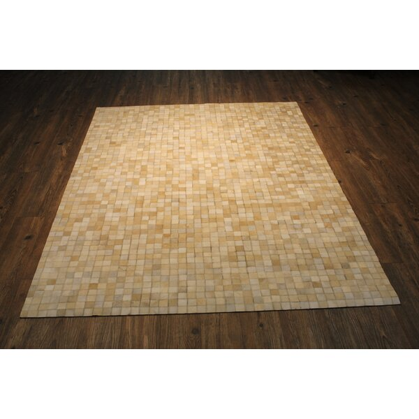 One-Of-A-Kind Cicco Hand-Woven Beige Area Rug by Foundry Select