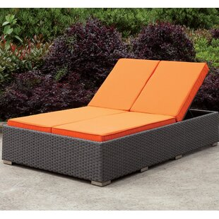Attirant Kedzie Double Chaise Lounge With Cushion