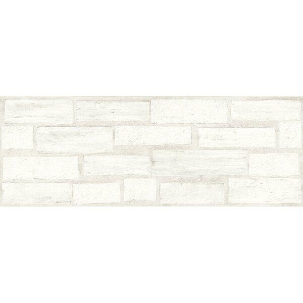 Agenda 17 x 47 Ceramic Subway Tile in Stamp White by Emser Tile