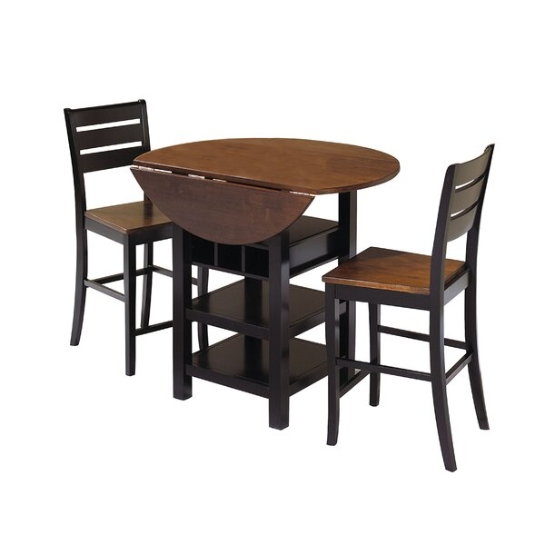 Atwater 3 Piece Counter Height Dining Set by World Menagerie