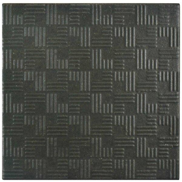 Region 6 x 6 Porcelain Field Tile in Black by EliteTile