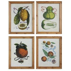 Gatherings 'Vintage Fruit' 4 Piece Graphic Art Set by Creative Co-Op