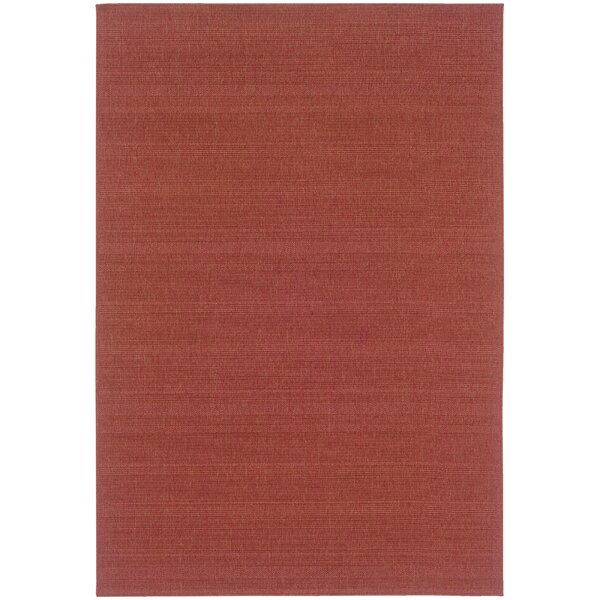 Whipple Red Indoor/Outdoor Area Rug by Ebern Designs
