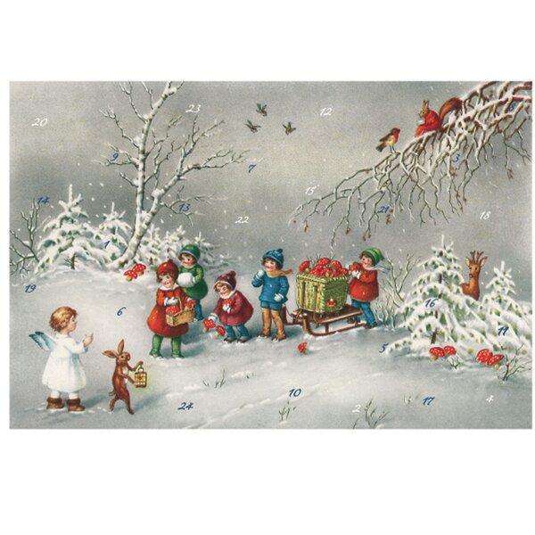 Korsch Children and Angels Gathering Mushroom Advent Calendar by Alexander Taron