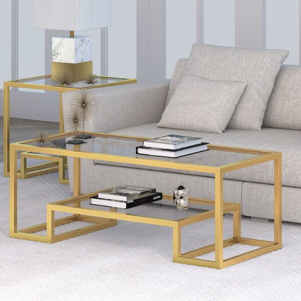 Imel Coffee Table with Tray Top by Mercer41
