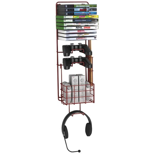 Game Multimedia Wall Mounted Storage Rack by Rebri